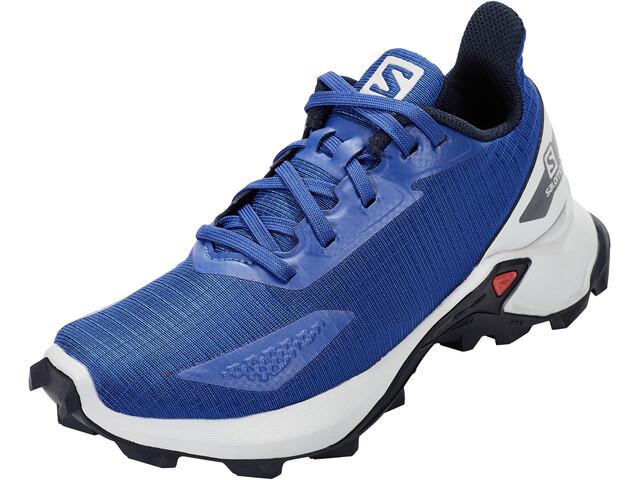 Salomon Alphacross Blast Shoes Kids surf the web/navy blazer/pearl blue